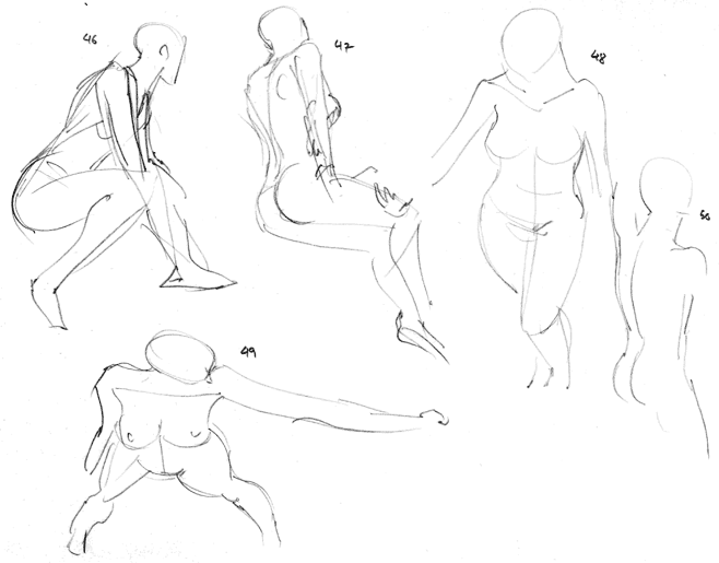"Spartan Camp #101 - 50 gestures + Optional Study of a ""Sci-Fi Character"""